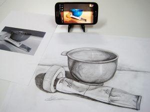 Móvil para dibujar mejor. Arte Casellas. Clases. Peparación. Presencial y online. Estudios Superiores. Grados Supeiores. Diseño 1
