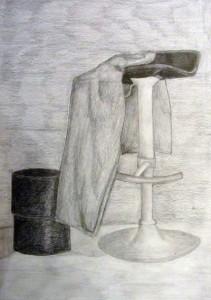 Dibujo del natural de Sara Urraza Curso de preparación a la prueba de acceso a los grados de Diseño de Arte Casellas