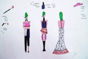 Arte Casellas. Bocetos de proceso creativo de Cristina Barba