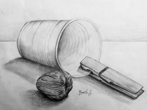 Dibujo de Manuela Gonzalez. Arte Casellas
