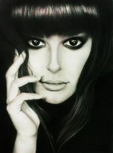 Iván Cuervo. Arte Casellas. Lea Michele (grafito) copia
